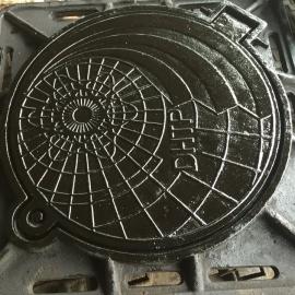Nắp hố ga macco khung vuông âm nắp tròn 850x850 tải 7,5 tấn