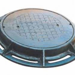 Nắp hố ga gang cầu khung tròn âm nắp tròn tải trọng 12.5 tấn