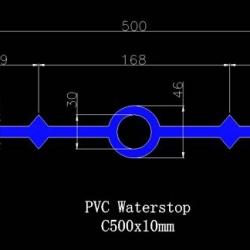 Băng cản nước waterstop pvc O500